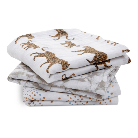 Picture of Aden+Anais® Muslin Squares 3-Pack Hear me Roar 70x70