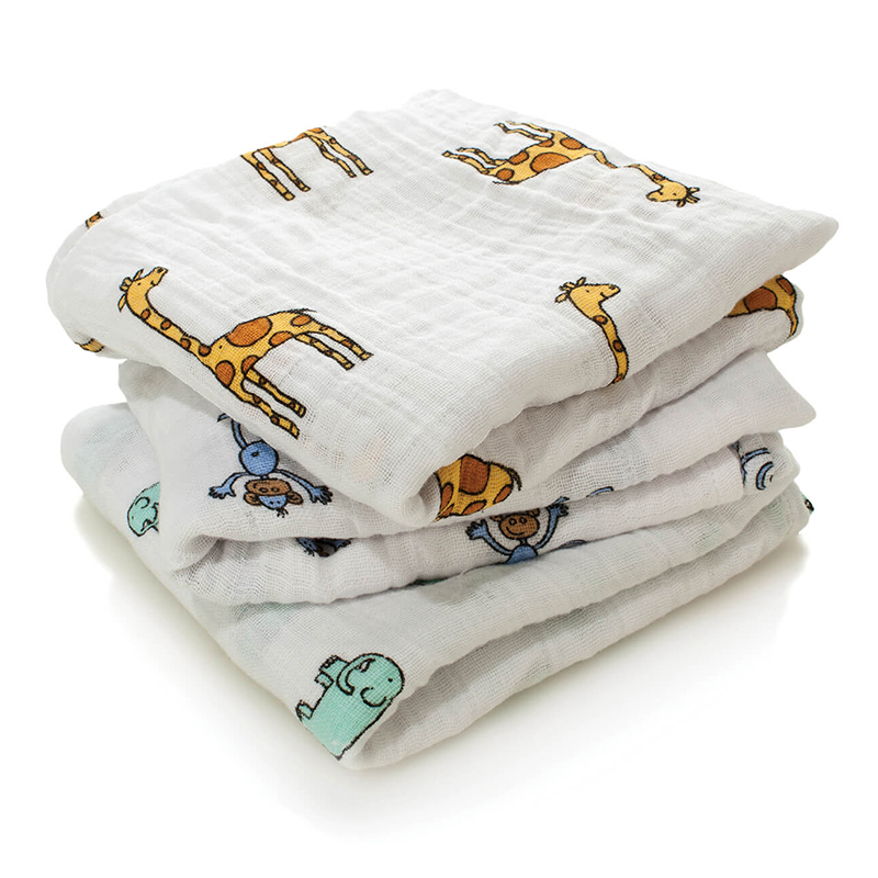 Picture of Aden+Anais® Muslin Squares 3-Pack Jungle Jam (70x70)