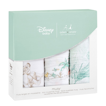 Aden+Anais® Muslin Squares 3-Pack Disney's The Lion King 70x70