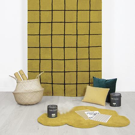 Lilipinso® Baby carpet Cloud Mustard 100x64