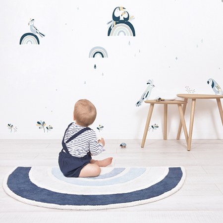 Picture of Lilipinso® Baby carpet Rainbow Blue 120x70