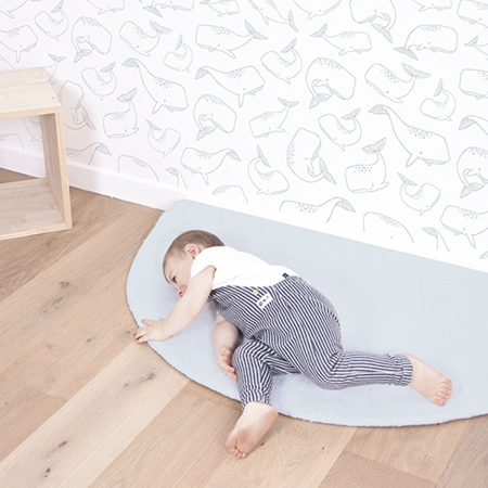 Picture of Lilipinso® Baby carpet Half moon Blue 140x70