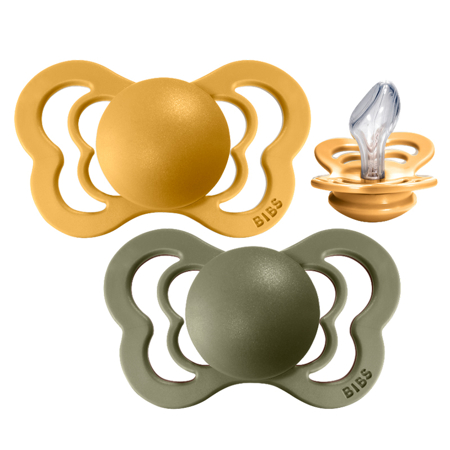 Picture of Bibs® Baby Pacifier Couture Silicone Honey Bee & Olive 2 (6-18m)