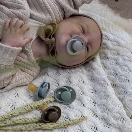 Picture of Bibs® Baby Pacifier De Lux Silicone Cloud & Black (0-36m)