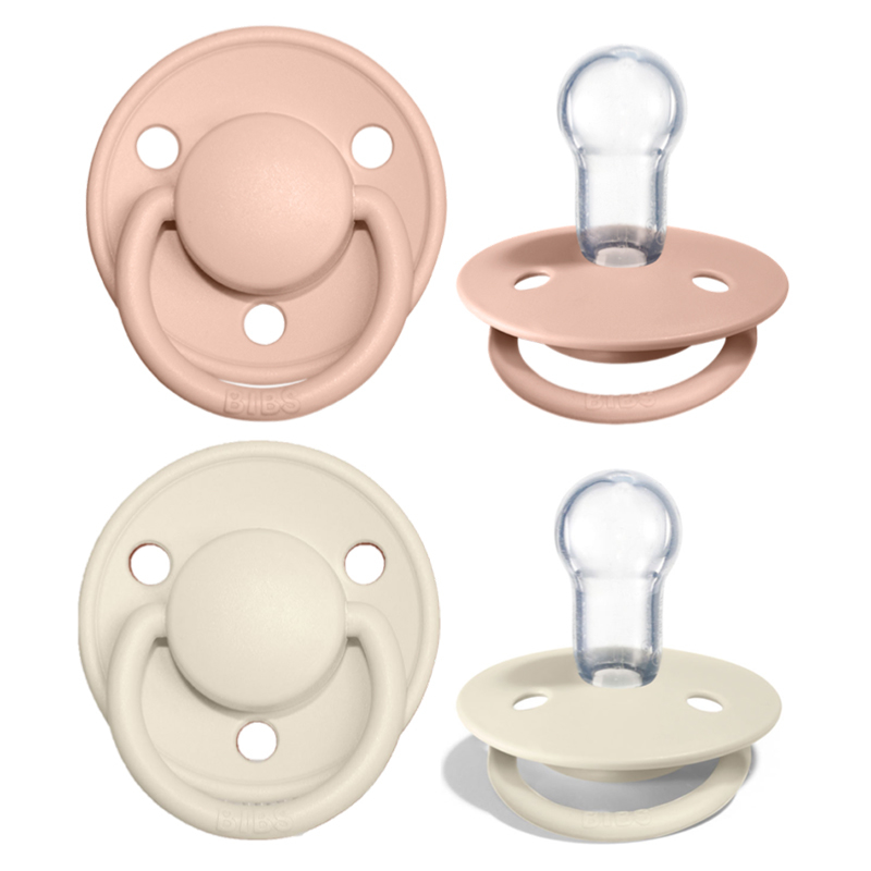 Picture of Bibs® Baby Pacifier De Lux Silicone Blush & Ivory (0-36m)