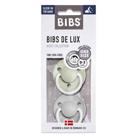 Picture of Bibs® Baby Pacifier De Lux Silicone Sage & Cloud Night (0-36m)