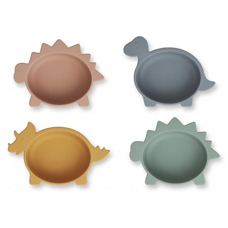 Picture of Liewood® Iggy Silicone Bowl 4 Pack Dino Multi Mix