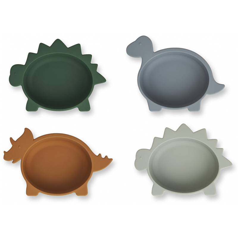 Picture of Liewood® Iggy Silicone Bowl 4 Pack Dino Blue Multi Mix
