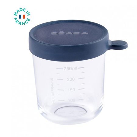 Picture of Beaba® Glass&Silicone Container 250ml Dark Blue