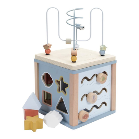 Picture of Little Dutch® Wooden Activity Cube Ocean