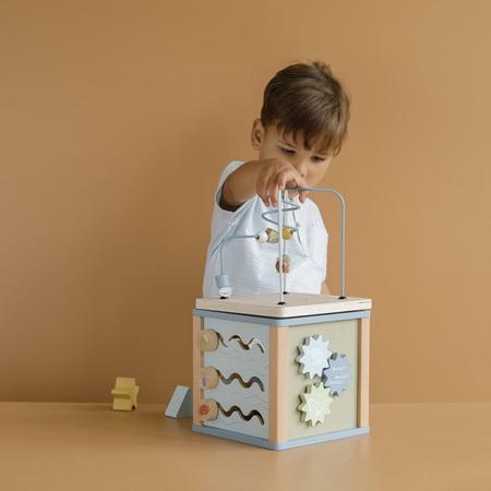 Picture of Little Dutch® Wooden Activity Cube Little Goose Wild Flowers