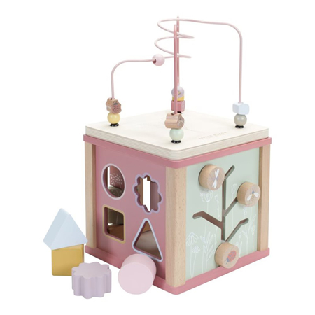 Little Dutch® Wooden Activity Cube Little Goose Wild Flowers