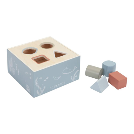 Picture of Little Dutch® Wooden Activity Cube Ocean