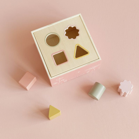 Little Dutch® Wooden Activity Cube Wild Flowers
