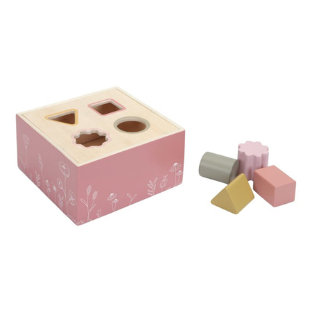 Picture of Little Dutch® Wooden Activity Cube Wild Flowers