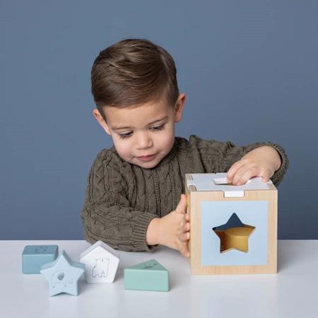 Little Dutch® Shape sorter Zoo Blue