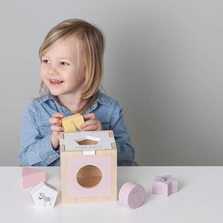 Little Dutch® Shape sorter Zoo Pink
