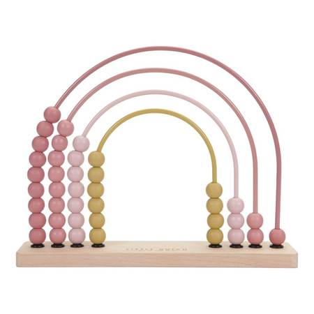 Picture of Little Dutch® Rainbow Abacus Pink