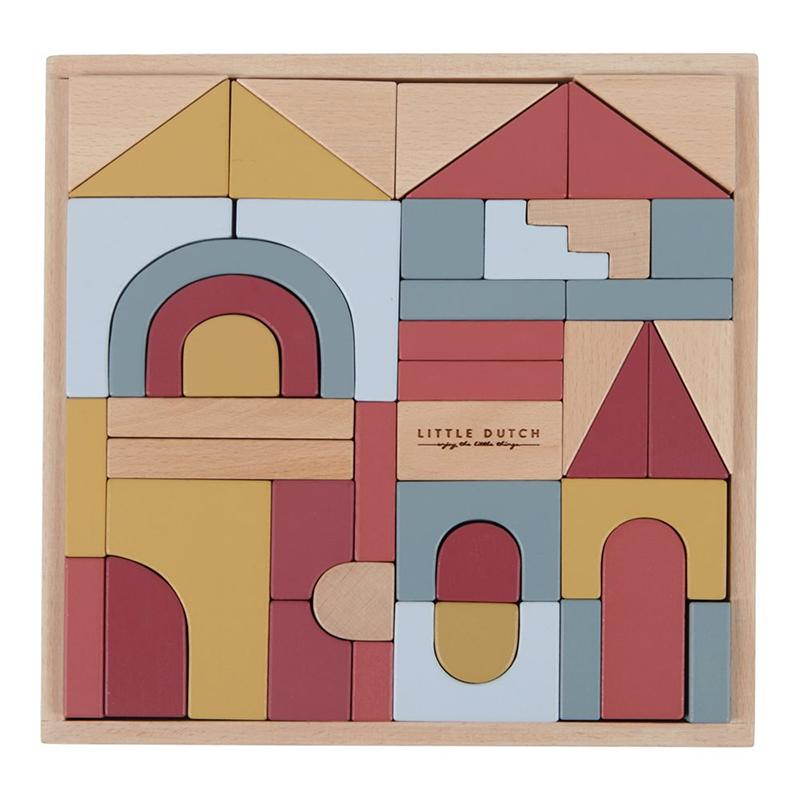 Picture of Little Dutch® Wooden building blocks Pure & Nature