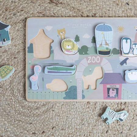 Little Dutch® Shape puzzle Zoo