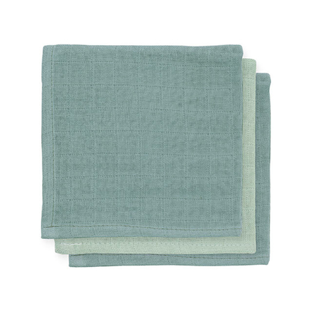 Picture of Jollein® Mouth cloth hydrophilic Ash Green 3pack 31x31