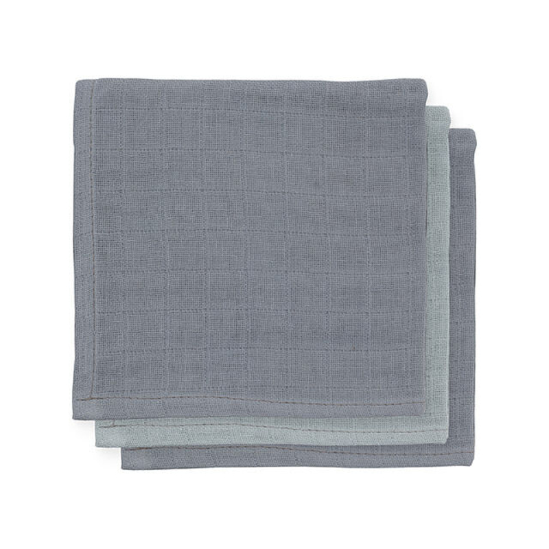 Picture of Jollein® Mouth cloth hydrophilic Storm Grey (3pack)