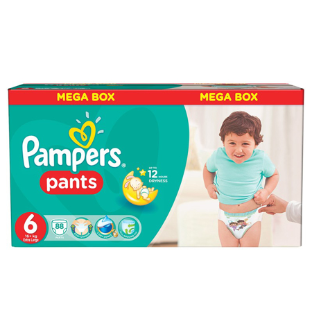 Picture of Pampers® Pants Diapers Size 6 (16kg+) 88 Pcs.