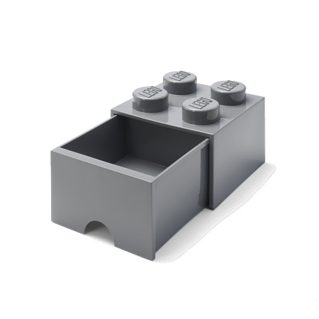 Picture of Lego® Storage Box with Drawers 4 Dark Grey