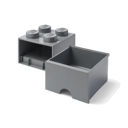 Lego® Storage Box with Drawers 4 Dark Grey