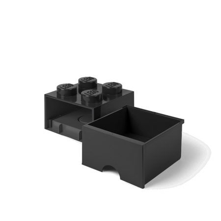 Lego® Storage Box with Drawers 4 Black