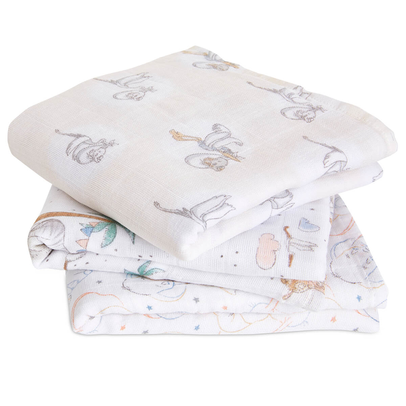 Picture of Aden+Anais® Muslin Squares 3-Pack Darling Dumbo (70x70)