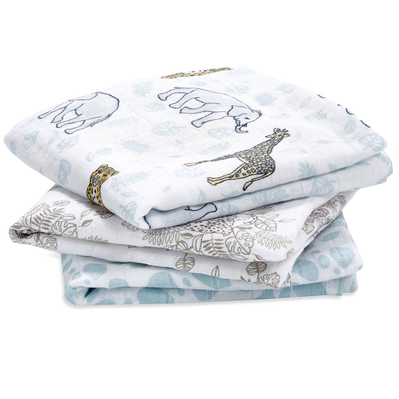 Picture of Aden+Anais® Muslin Squares 3-Pack Jungle (70x70)
