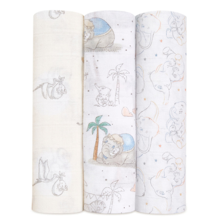 Picture of Aden+Anais® Silky Soft Swaddles 3-pack My Darling Dumbo 120x120