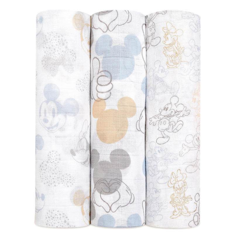 Picture of Aden+Anais® Silky Soft Swaddles 3-pack Mickey + Minnie 120x120
