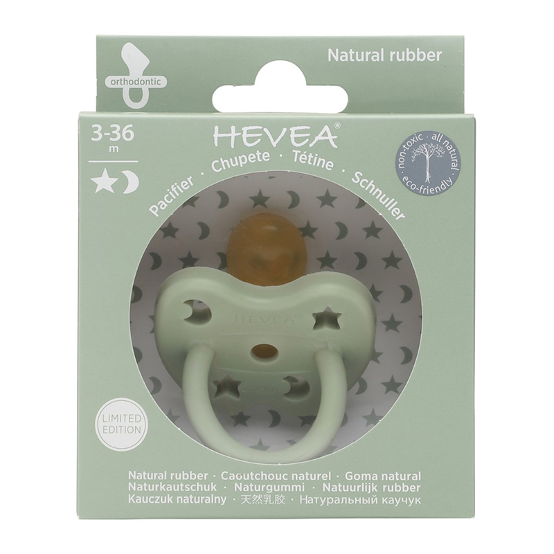 Picture of Hevea® Pacifier Orthodontic (3-36m) Sea Green