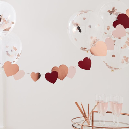Ginger Ray® Rose Gold Heart Bunting