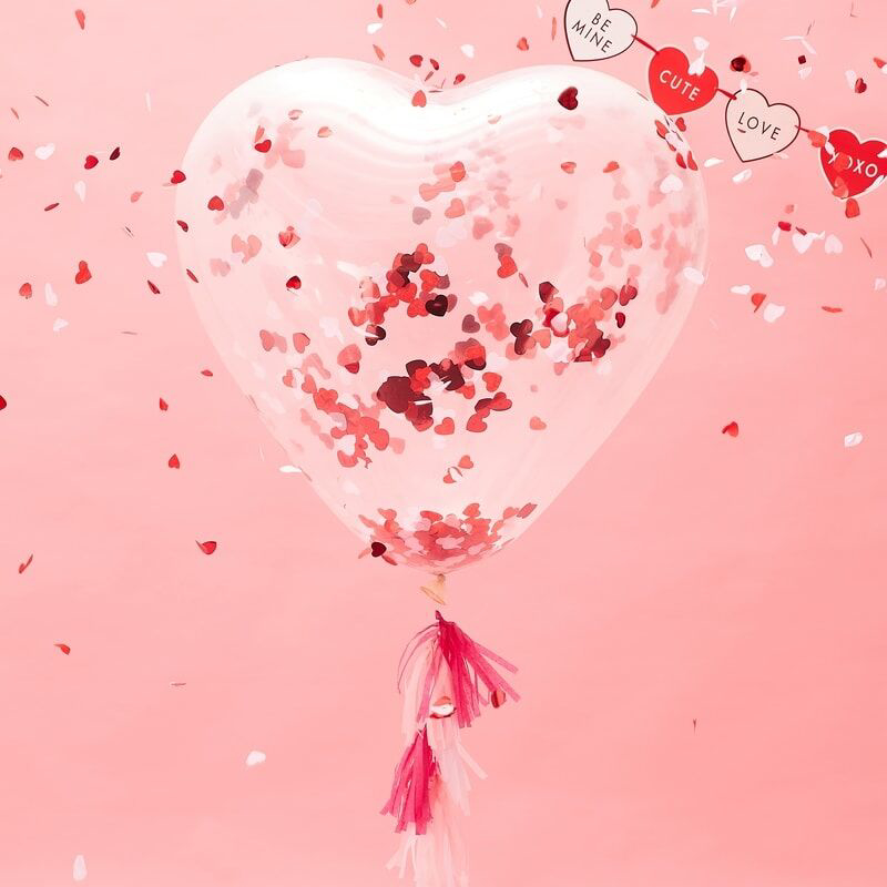 Picture of Ginger Ray® Giant Heart shaped confetti Balloon