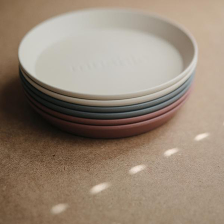 Picture of Mushie® Round Dinnerware Plate Set of 2 Mustard