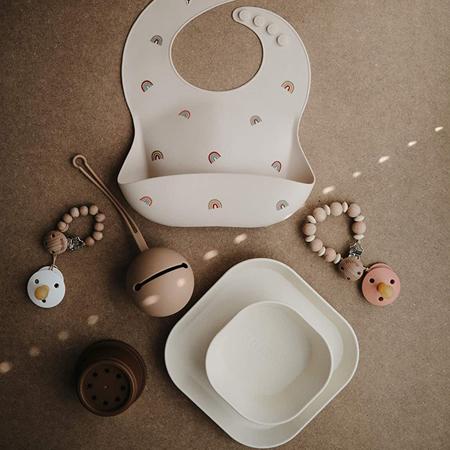 Picture of Mushie® Round Dinnerware Bowl Set of 2 Mustard