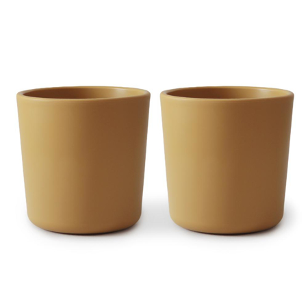 Picture of Mushie® Dinnerware Cup Set of 2 - Mustard