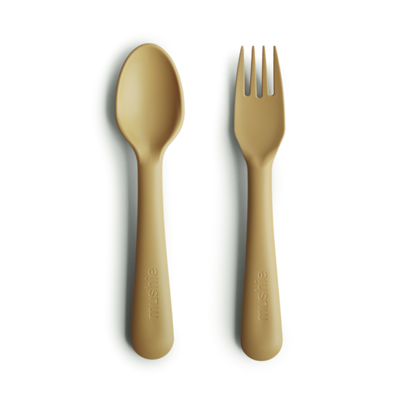Picture of Mushie® Fork & Spoon Mustard