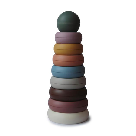 Picture of Mushie® Stacking Rings Toy Rustic