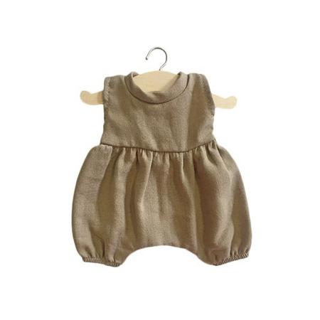 Picture of Minikane® Esemble dress in organic cotton Mastic 34cm