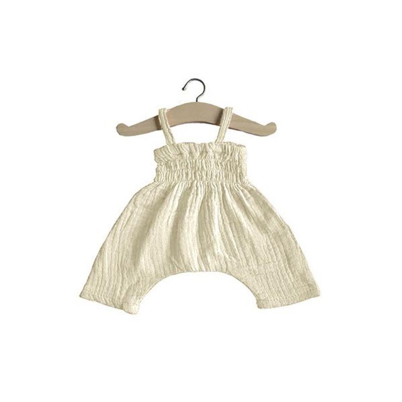 Picture of Minikane® Esemble dress in organic cotton Ecru 34cm