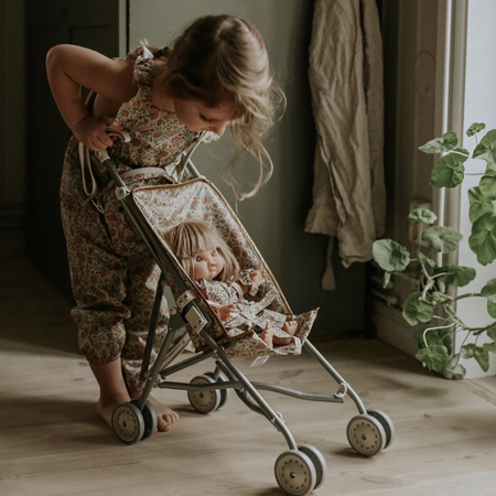Picture of Minikane® Baby stroller for dolls in cotton Fleurs