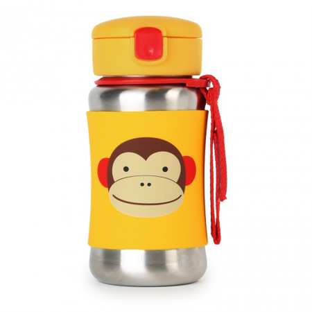 Picture of Skip Hop® Stainless Steel Kids Straw Bottle Monkey