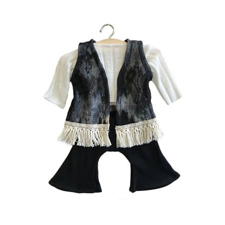 Picture of Minikane® Black set in organic cotton Gina 34cm