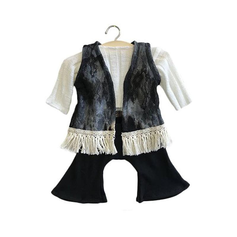 Picture of Minikane® Black set in organic cotton Gina 34cm