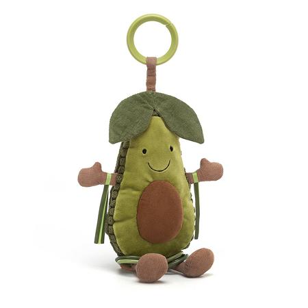 Jellycat® Amuseable Avocado Activity Toy 25x9