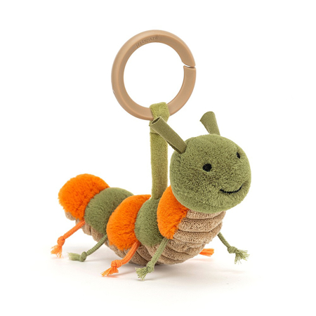 Picture of Jellycat® Little Christopher Caterpillar Rattle 8x16